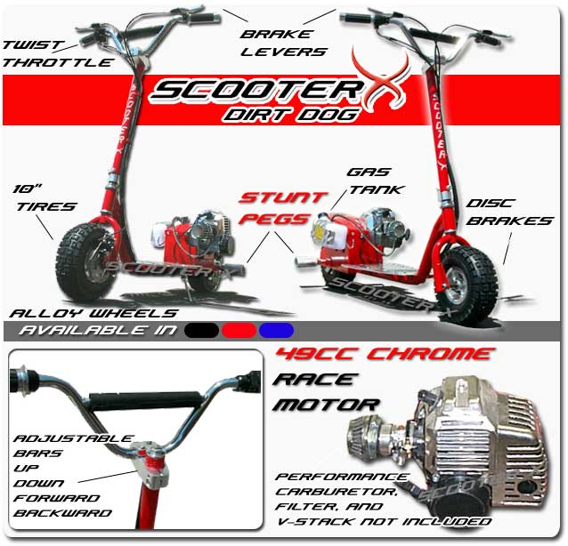 52cc ScooterX Dirt Dog